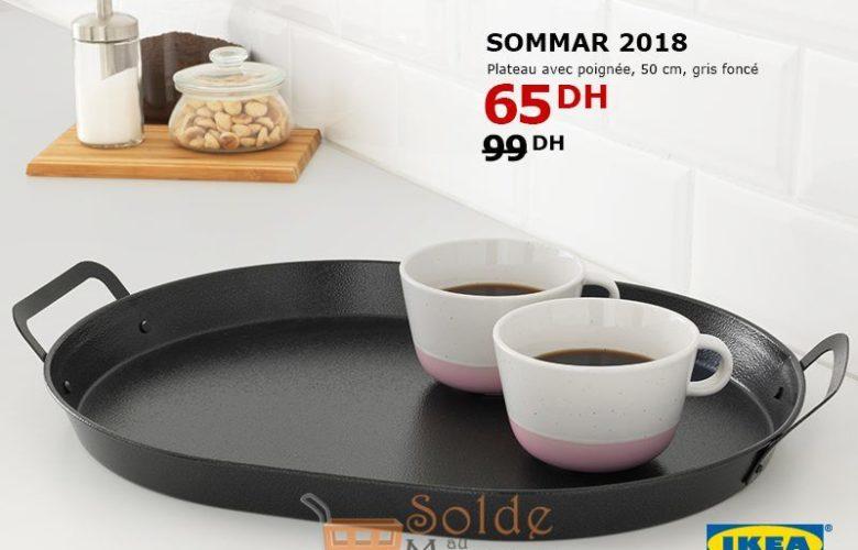 Soldes Ikea Maroc Plateau SOMMAR 2018 Gris 65Dhs au lieu de 99Dhs