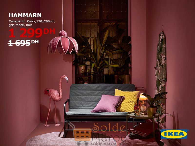 soldes ikea maroc canap lit hammarn 1299dhs. Black Bedroom Furniture Sets. Home Design Ideas