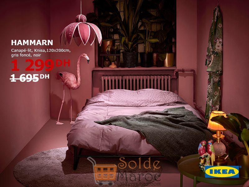 Soldes Ikea Maroc Canapé-lit HAMMARN 1299Dhs au lieu de 1695Dhs