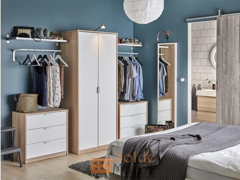 Soldes Ikea Maroc Penderie ASKVOLL effet chêne teinté blanc 995Dhs au lieu de 1395Dhs