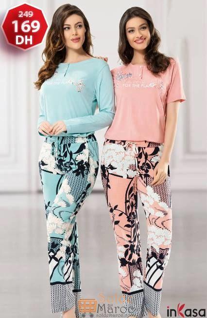Soldes InKasa Maroc Pyjama 2 pièces 169Dhs au lieu de 249Dhs