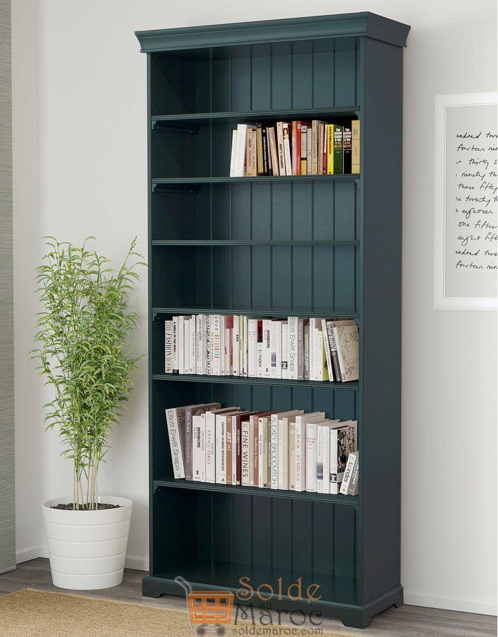 Soldes Ikea Maroc Bibliothèque LIATORP vert-olive foncé 2150Dhs au lieu de 2795Dhs