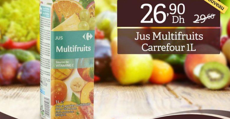 Promo Carrefour Gourmet Jus Multifruits Carrefour 1L 26Dhs au lieu de 29Dhs