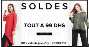 Soldes Niswa Tout à 99Dhs Jusqu'au 31 Août 2018