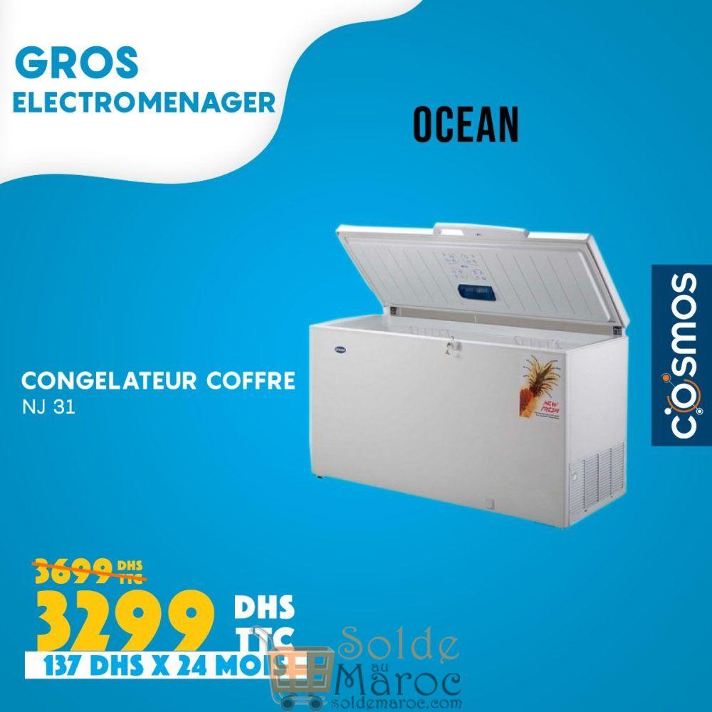 Promo Cosmos Electro Congélateur Coffre OCEAN 3299Dhs au lieu de 3699Dhs