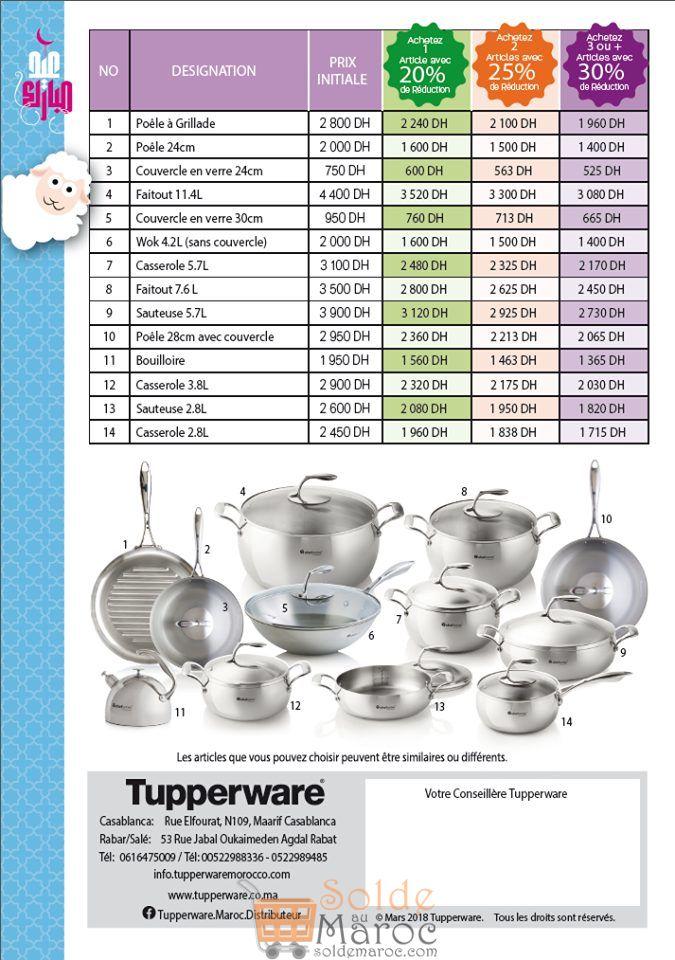 Prolongement Promo Tupperware Maroc -30% de remise valable pour cette Semaine