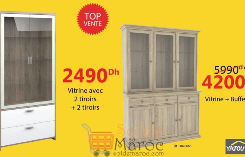 Promo Top vente Yatout Home Vitrine + Buffet 4200Dhs au lieu de 5990Dhs