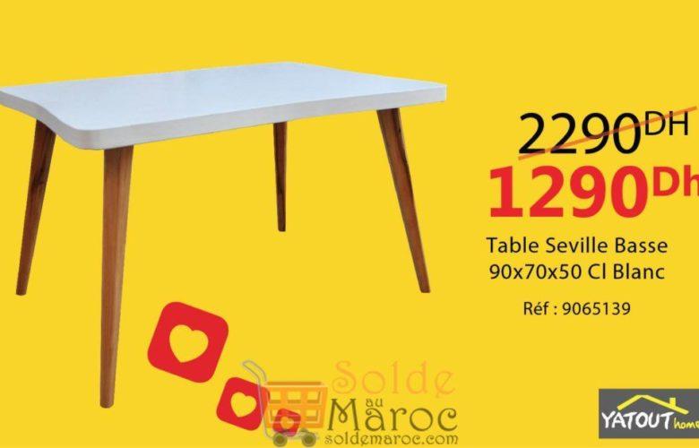 Promo Yatout Home Table Basse SEVILLE 1290Dhs au lieu de 2290Dhs