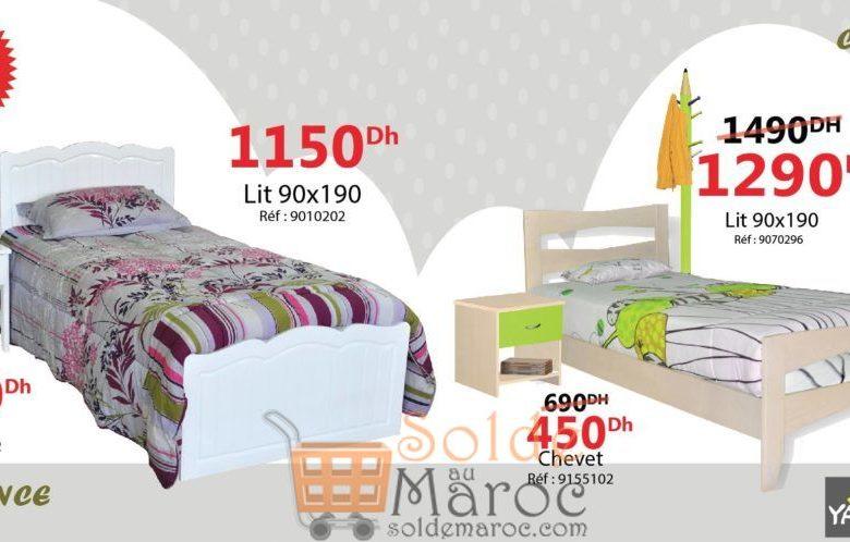 Promo Yatout Home Lit Single 90x190 1290Dhs au lieu de 1490Dhs