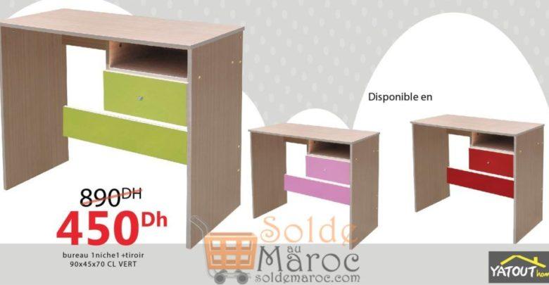 Soldes Yatout Home Bureau 1 niche +1 tiroir 450Dhs au lieu de 890Dhs