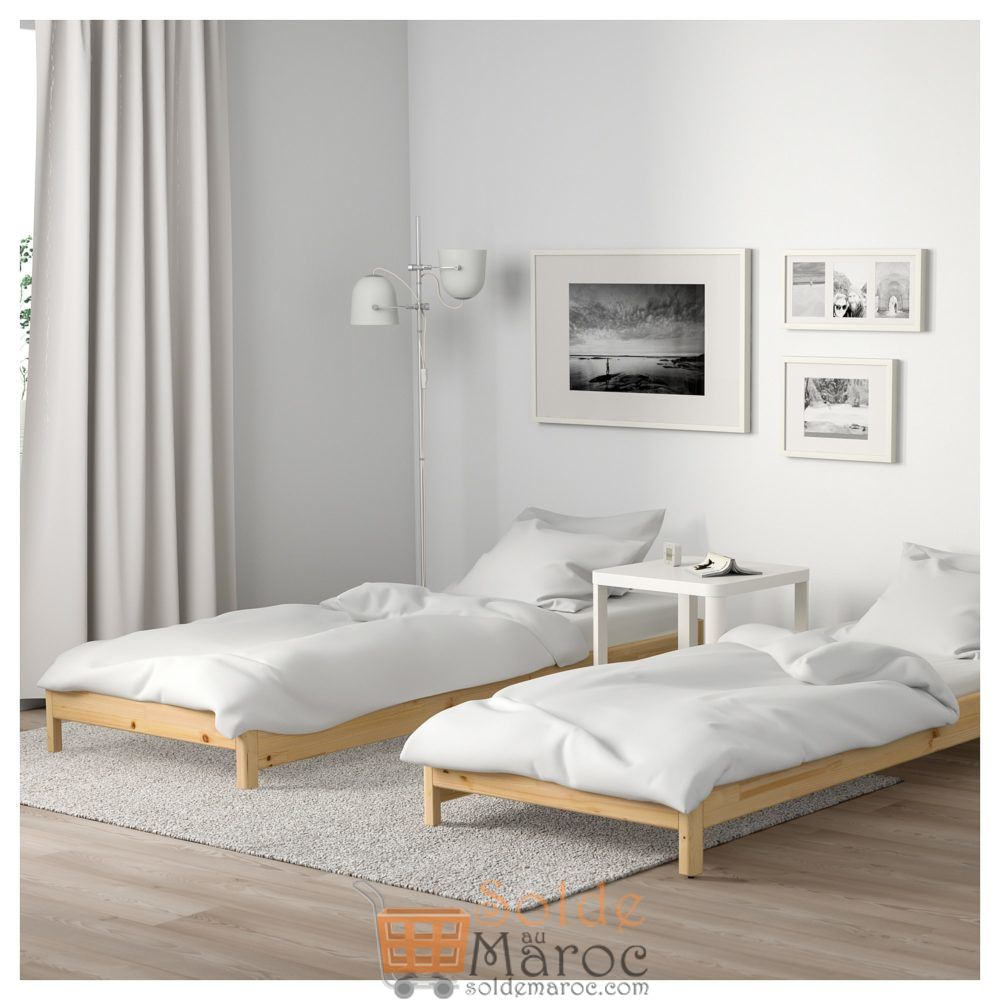 Soldes Ikea Maroc Lit superposable avec 2 matelas UTÅKER 2 pièces 3395Dhs au lieu de 3593Dhs