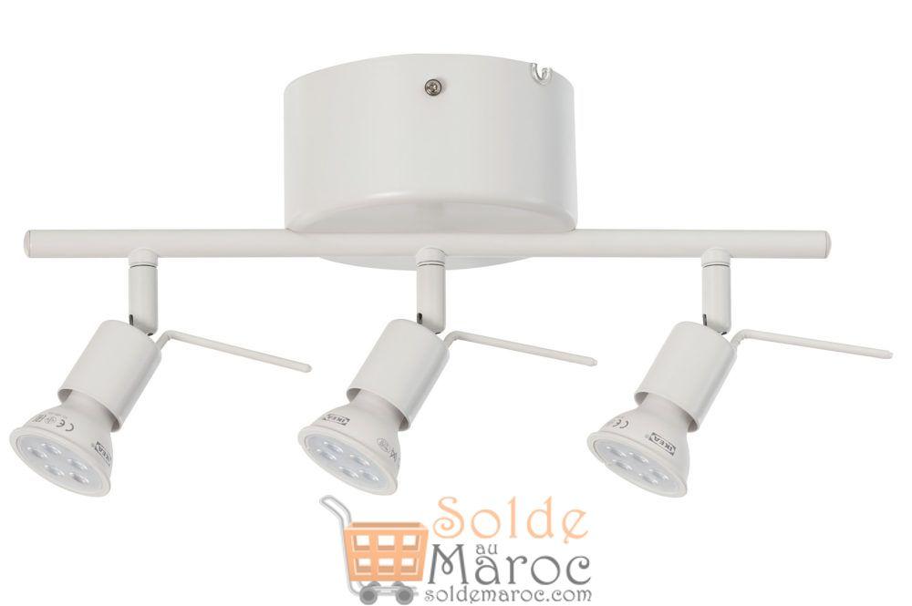 Prix Spéciale Ikea Maroc 3 Spots Rail pour plafond TROSS blanc 99Dhs