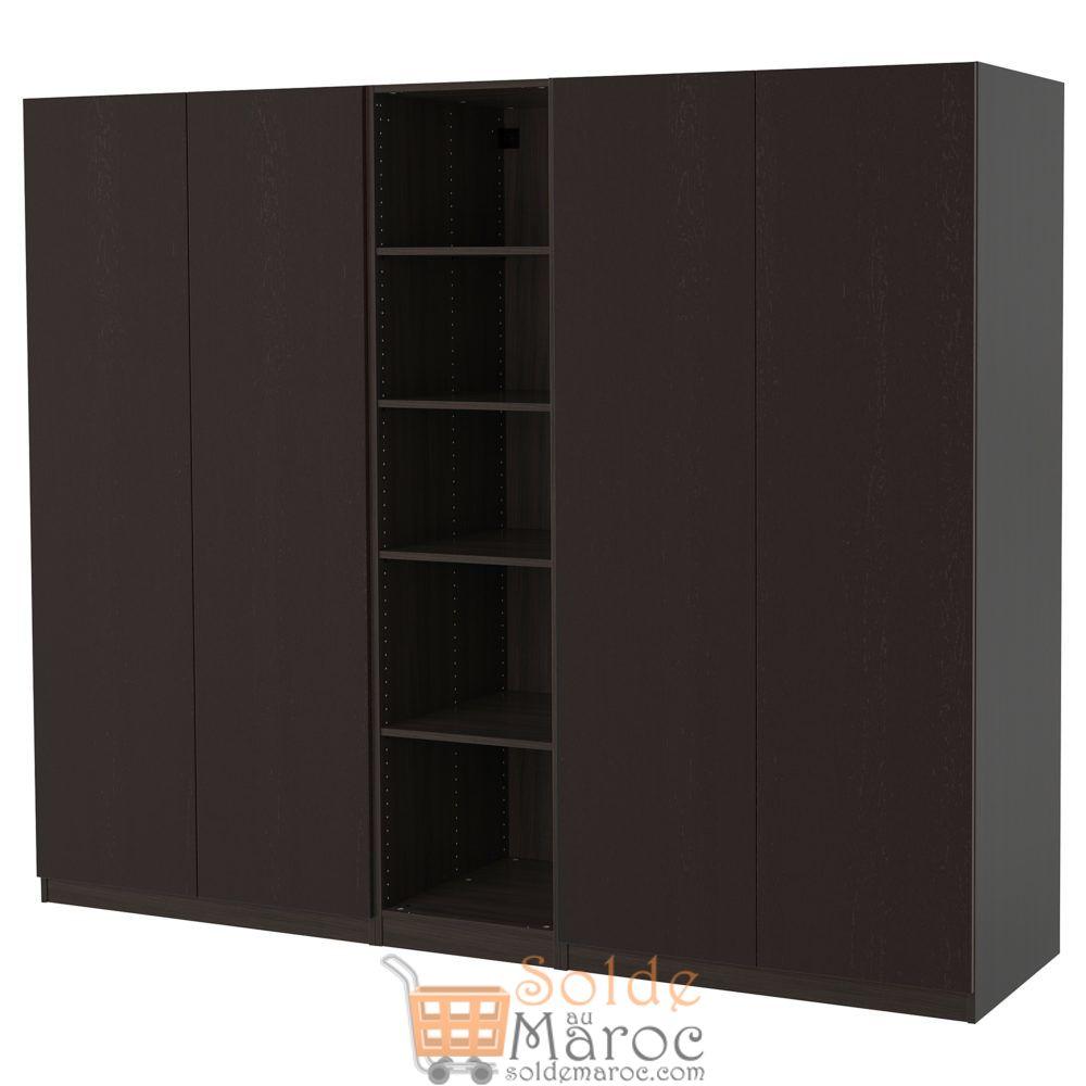 Soldes Ikea Maroc Penderie PAX noir-brun 5900Dhs au lieu de 7000Dhs