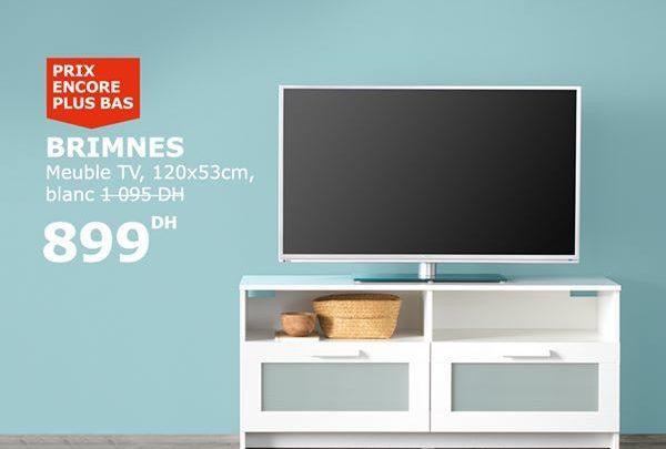 Soldes Ikea Maroc Meuble tv Brimnes 899Dhs au lieu de 1095Dhs