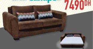 Promo Yatout Home Canapé Convertible 7490Dhs au lieu de 8990Dhs