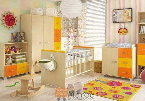 Promo Azura Home CHAMBRE À COUCHER BÉBÉ COMPLÈTE SPRING 3490Dhs au lieu de 4490Dhs
