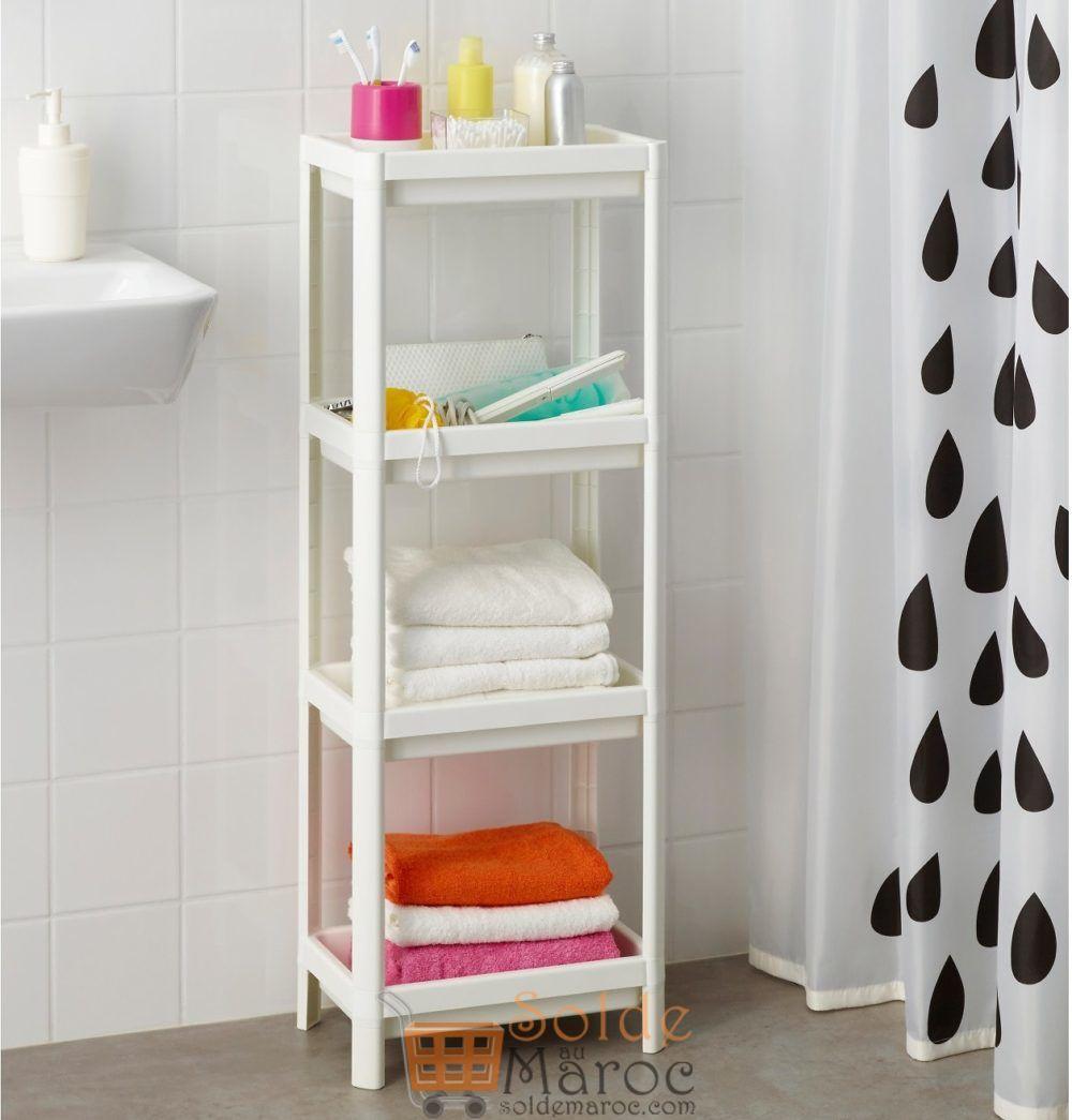 Super Offre Ikea Maroc Étagère VESKEN blanc 129Dhs