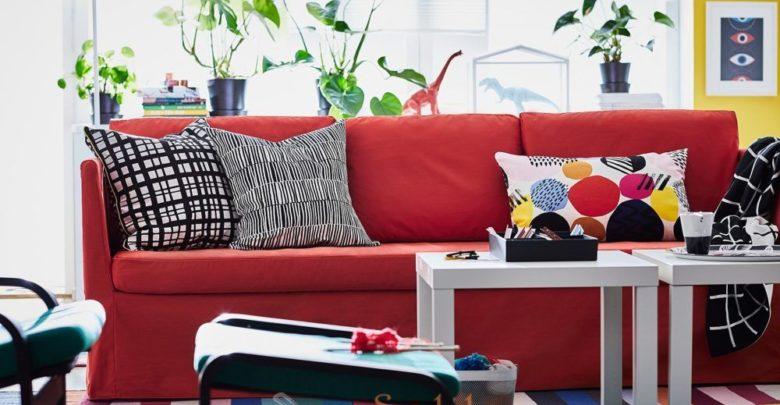 Photo of Promo Ikea Maroc canapé 3 places BRÅTHULT rouge/orange 3495Dhs au lieu de 4025Dhs