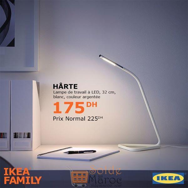 Soldes Ikea Family Lampe de travail HARTE 175Dhs au lieu de 255Dhs