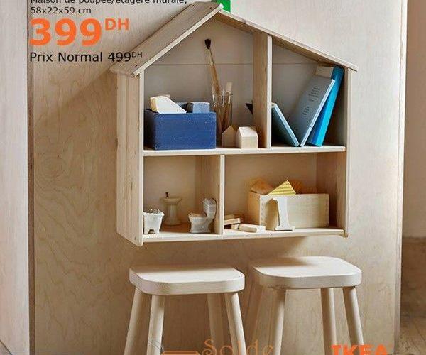 Soldes Ikea Family étagère mural Maison de poupée FLISAT 399Dhs au lieu de 499Dhs