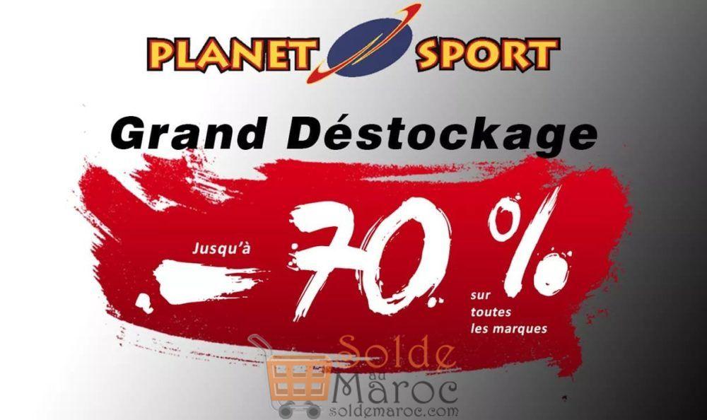 Grand Déstockage Planet Sport Jusqu'à -70% sur toutes les marques
