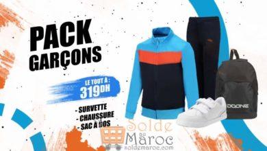 Promo Sport Zone Maroc Pack Sport Garçon 319Dhs
