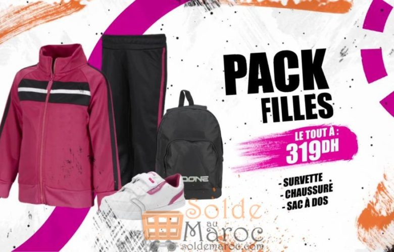 Promo Sport Zone Maroc Pack Sport Fille 319Dhs