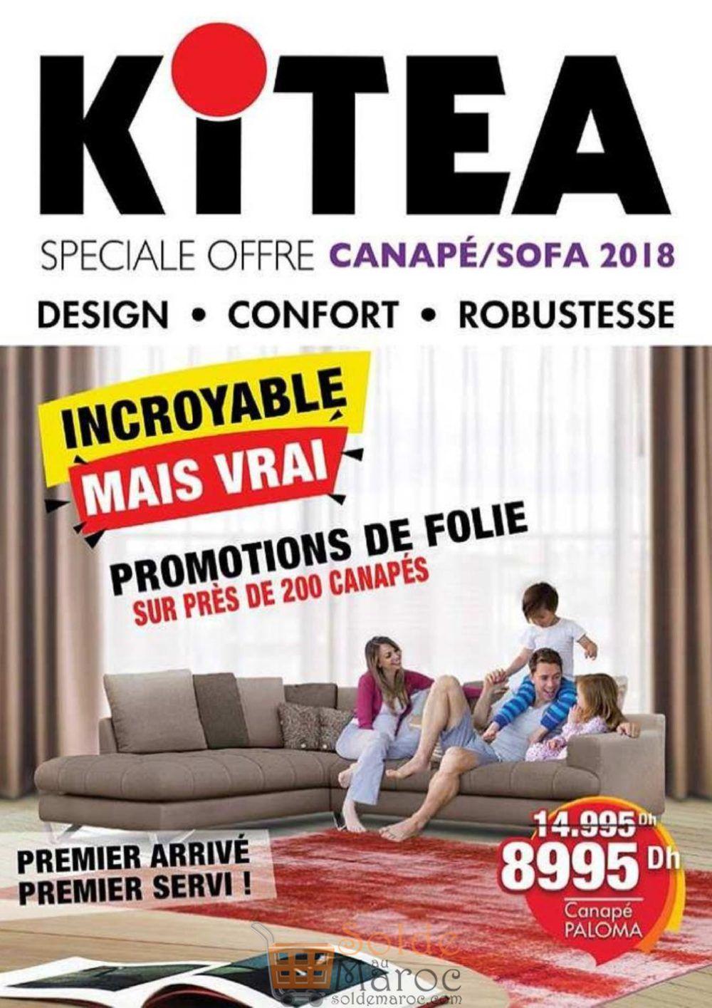 Flyer Kitea Soldes de folie sur les canapés