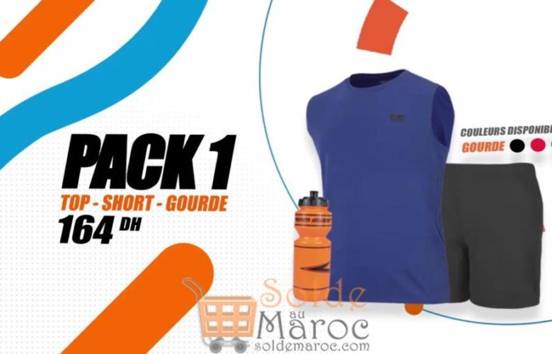 Promo Sport Zone Maroc Pack Top - Short - Gourde 164Dhs