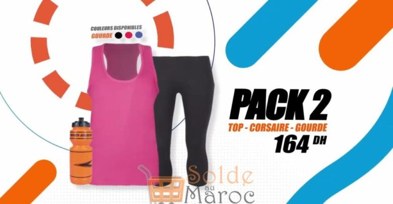 Photo of Promo Sport Zone Maroc Pack Top – Corsaire – Gourde 164Dhs