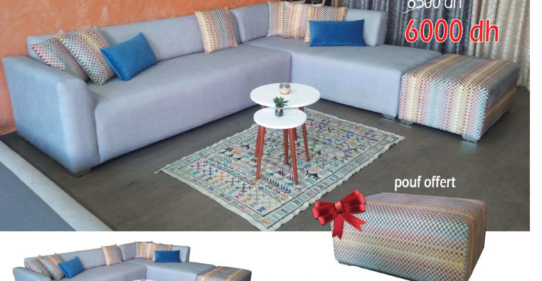 Offre Spéciale Amines Design Canapé d'angle MILAN 6000dhs au lieu 8500Dhs