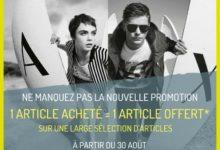 Promo Armani Exchange Maroc 1 Article Acheté = 1 Offert