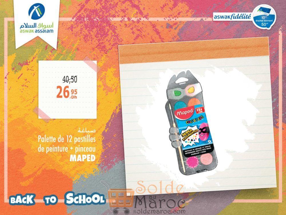 Promo Aswak Assalam Palettes de 12 peinture MAPED 26Dhs au lieu de 40Dhs