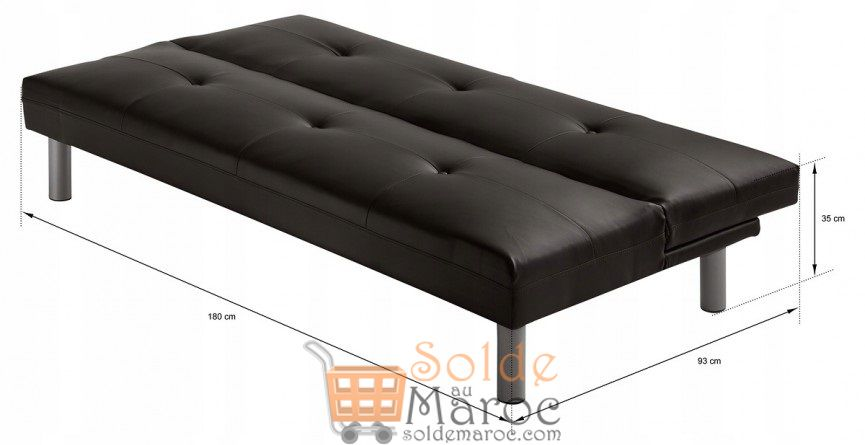 promo azura home banquette clic clac tyler 175 cm 1490dhs au lieu de 2641dhs solde et. Black Bedroom Furniture Sets. Home Design Ideas