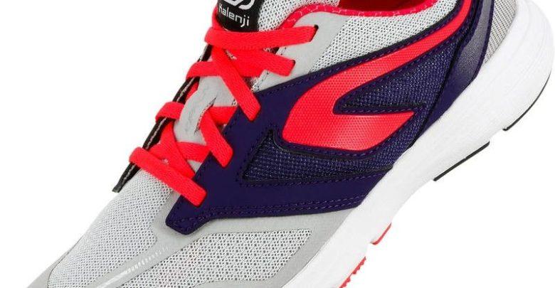 Promo Decathlon Chaussures Athletisme Enfant Kiprun Gris-Rose 199Dhs au lieu de 249Dhs