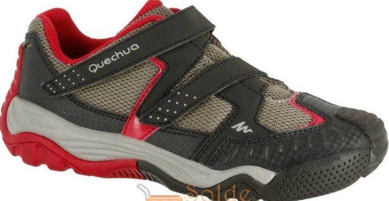 Photo of Promo Decathlon QUECHUA Chaussures de randonnée enfant Crossrock beige/rose 169Dhs