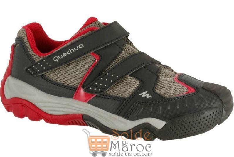 Promo Decathlon QUECHUA Chaussures de randonnée enfant Crossrock beige/rose 169Dhs au lieu de 179Dhs