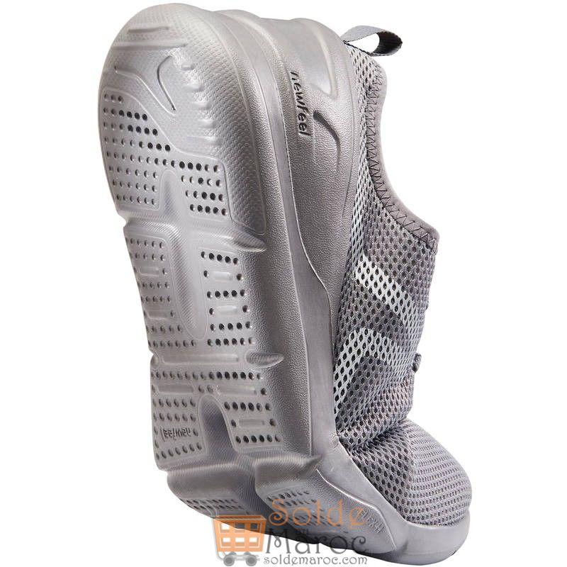 Nouveau chez Decathlon Chaussures NEWFEEL marche sportive homme PW 100 gris 99Dhs