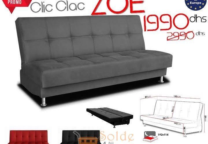 Promo Azura Home BANQUETTE CLIC CLAC ZOE 1990Dhs au lieu de 2990Dhs