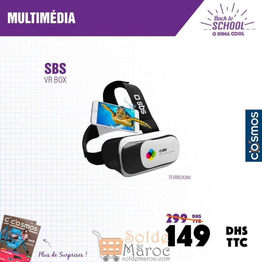 Promo Cosmos Electro VR BOX SBS 149Dhs au lieu de 299Dhs
