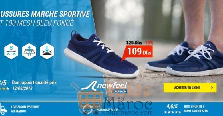 Photo of Soldes Decathlon Chaussures marche sportive homme Soft 100 Mesh bleu foncé 109Dhs