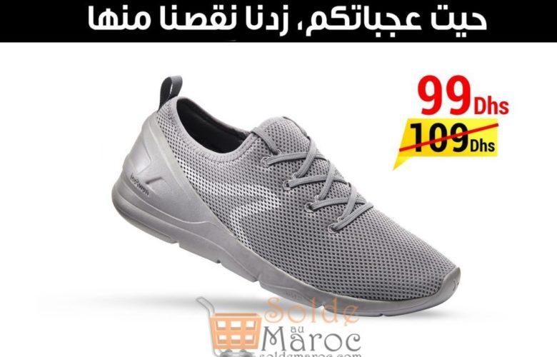 Promo Decathlon Chaussures NEWFEEL Marche sportive homme PW 100 gris 99Dhs au lieu de 109Dhs