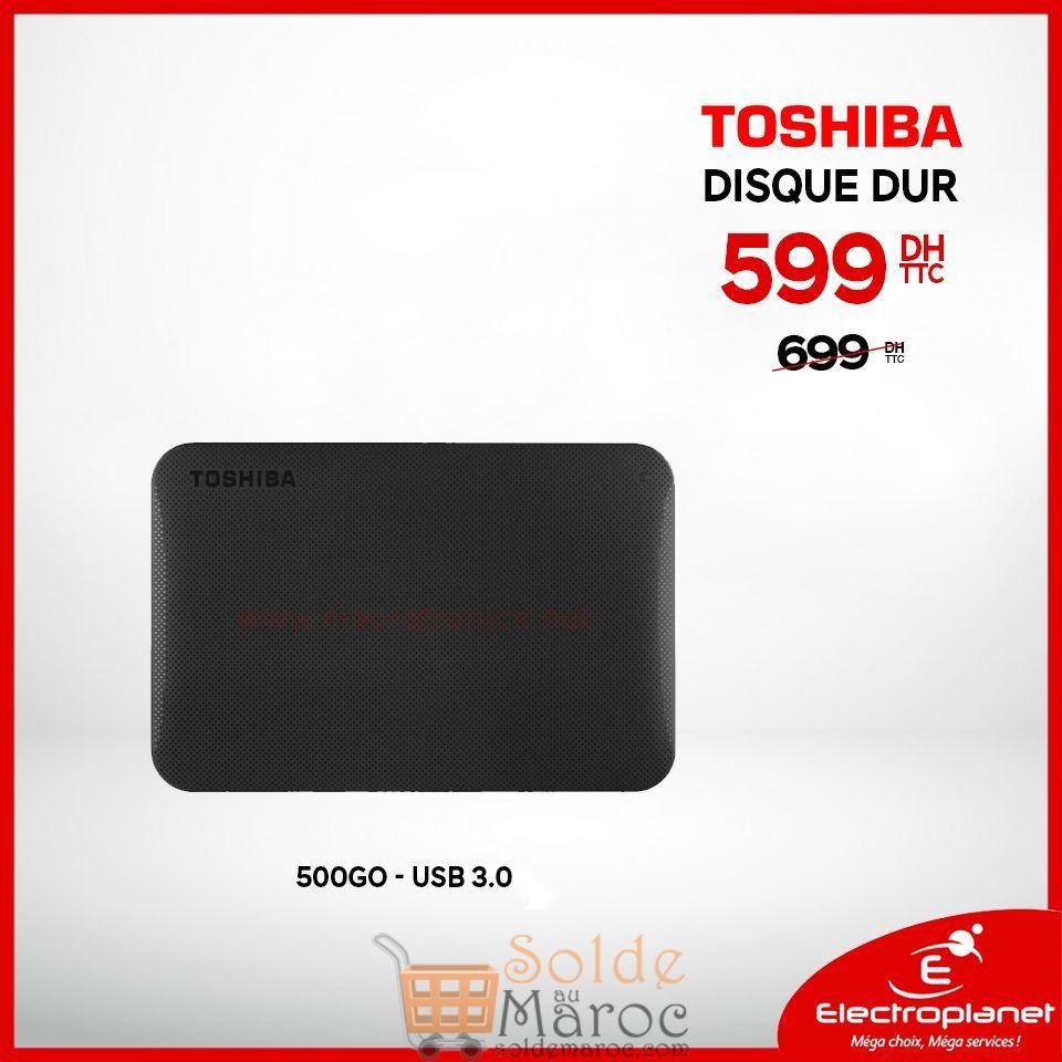 Promo Electroplanet Disque dur externe Toshiba Usb3.0 500Go 599Dhs au lieu de 699Dhs