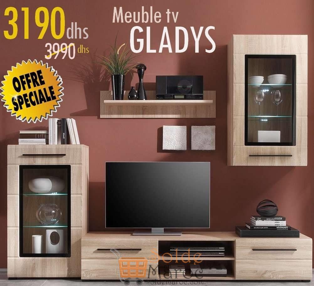 Promo Azura Home ENSEMBLE MEUBLE TV GLADYS 3190Dhs au lieu de 3990Dhs