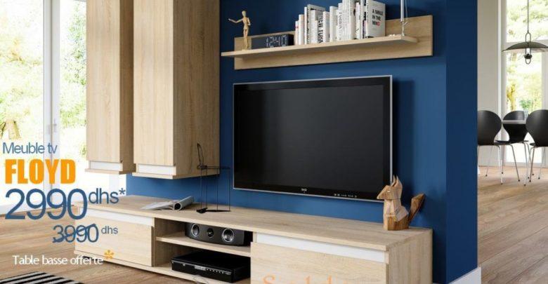 Photo of Promo Azura Home Meuble TV FLOYD 4 éléments + Table basse OFFERTE 2990Dhs