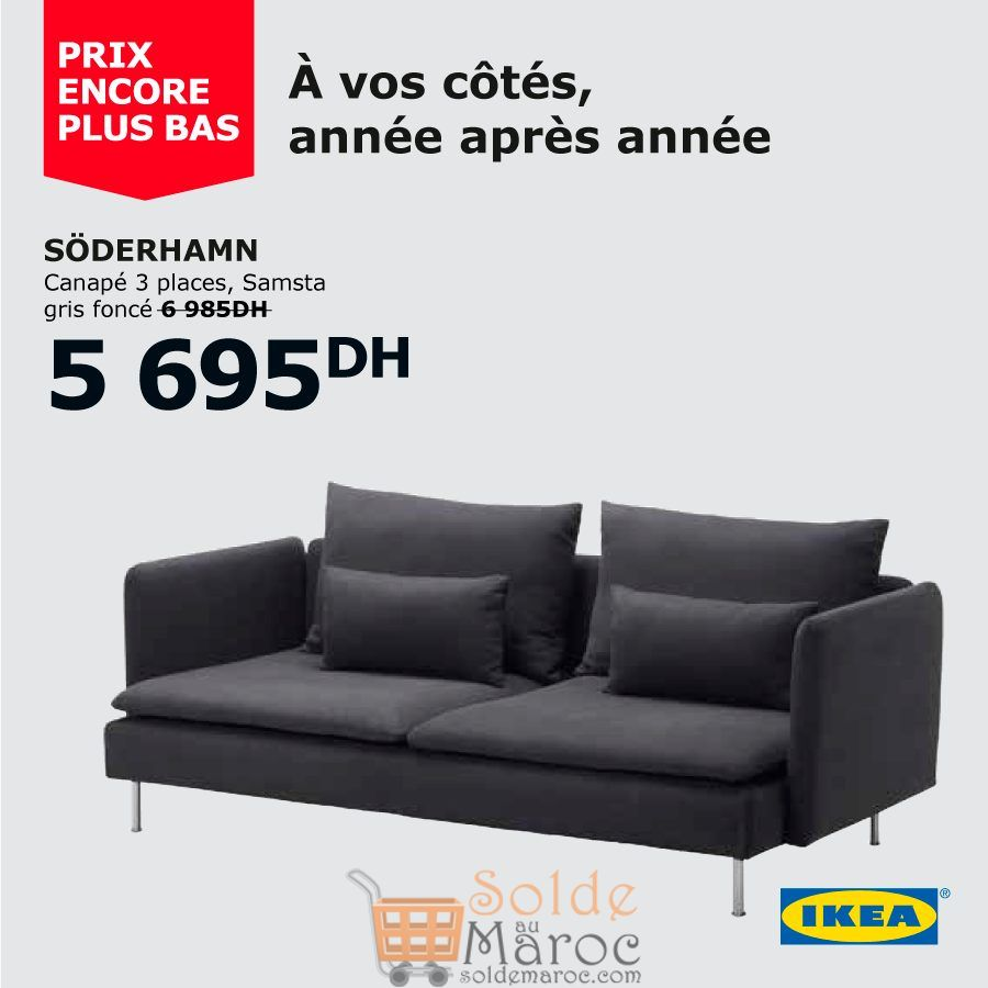 Soldes Ikea Maroc Canapé 3 places SODERHAMN 5695Dhs au lieu de 6985Dhs