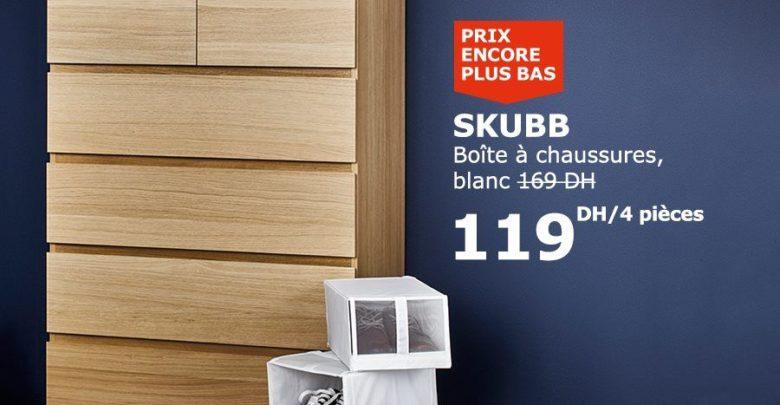 Photo of Soldes Ikea Maroc Boite à chaussures Blanche 4 pièces 119Dhs au lieu de 169Dhs