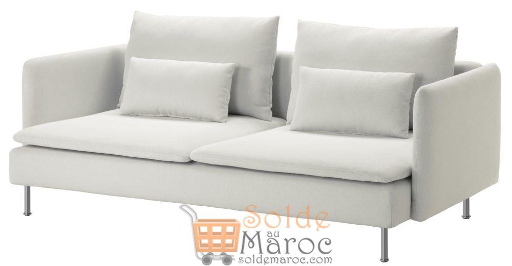 Soldes Ikea Maroc canapé 3 places SÖDERHAMN Finnsta blanc 6700Dhs au lieu de 8150Dhs