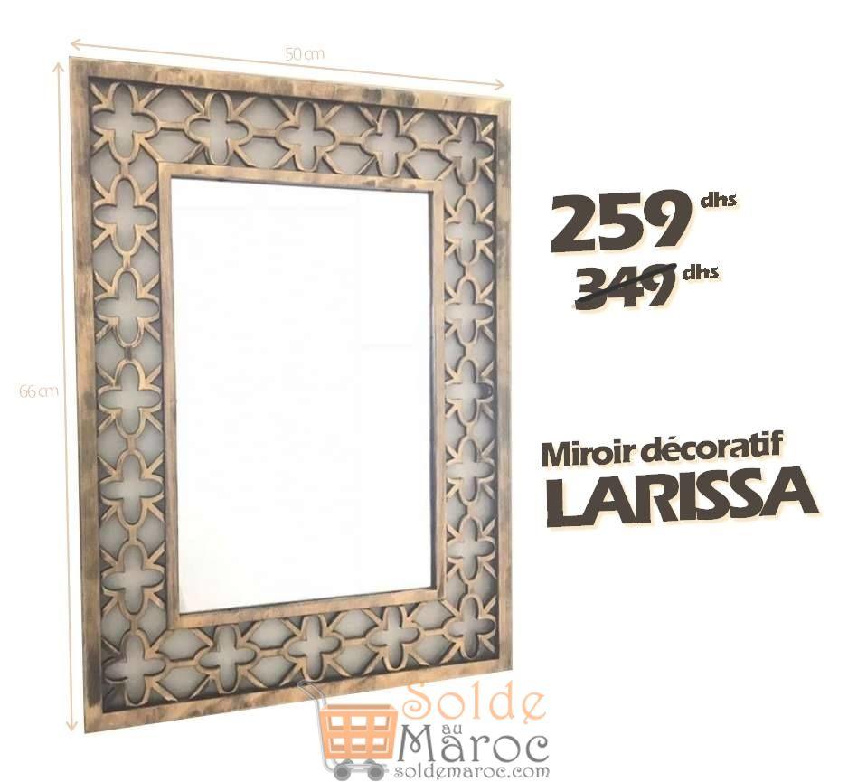 Promo Azura Home MIROIR LARISSA 259Dhs au lieu de 349Dhs