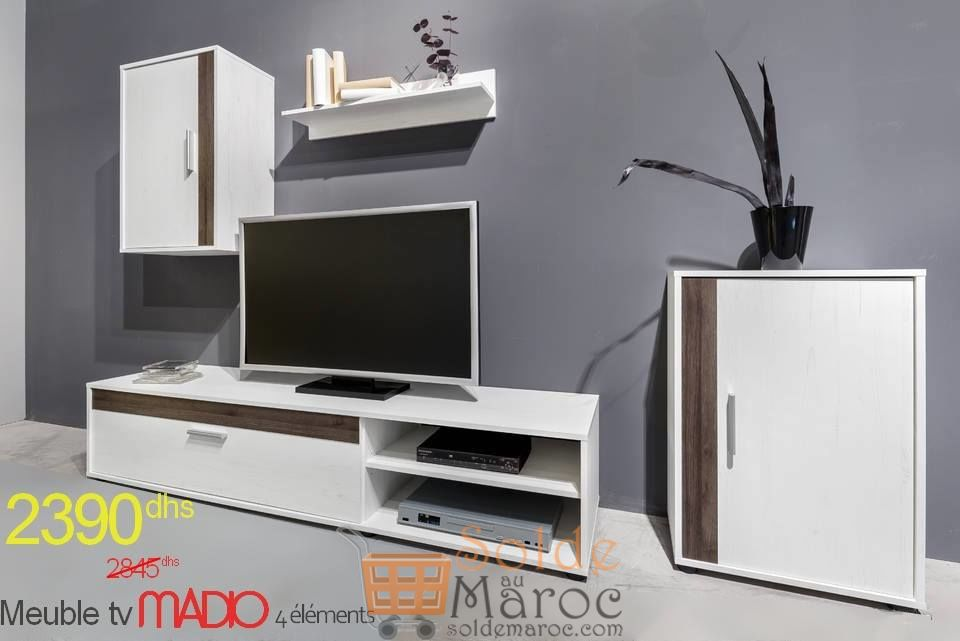 Promo Azura Home ENSEMBLE MEUBLE TV MADIO 180 CM 2390Dhs au lieu de 2845Dhs